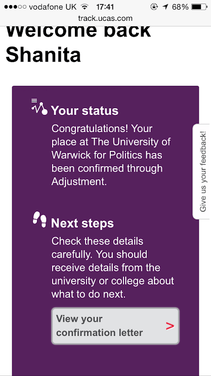 My process of applying to Warwick: Through adjustment