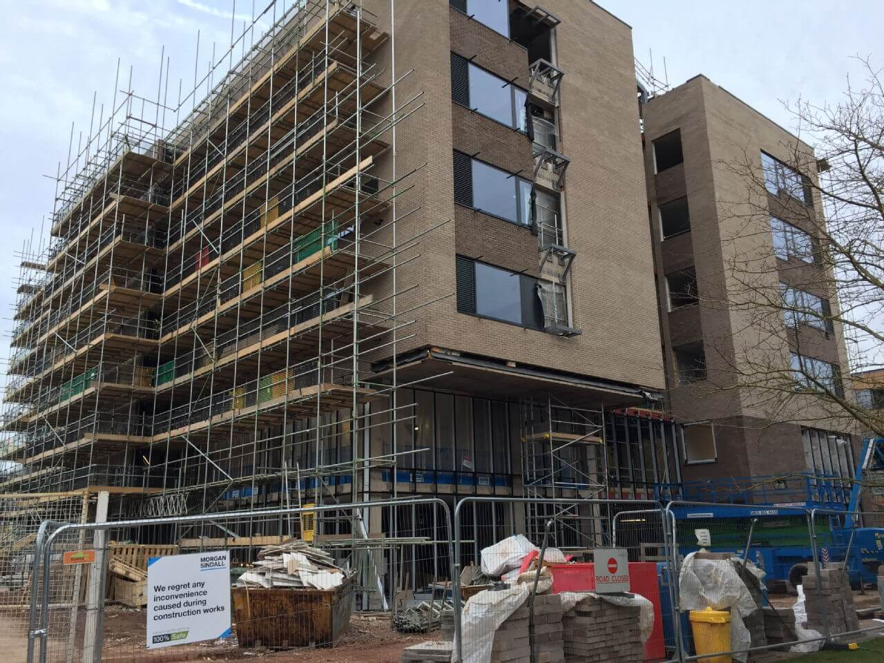 The new interdisciplinary building under construction