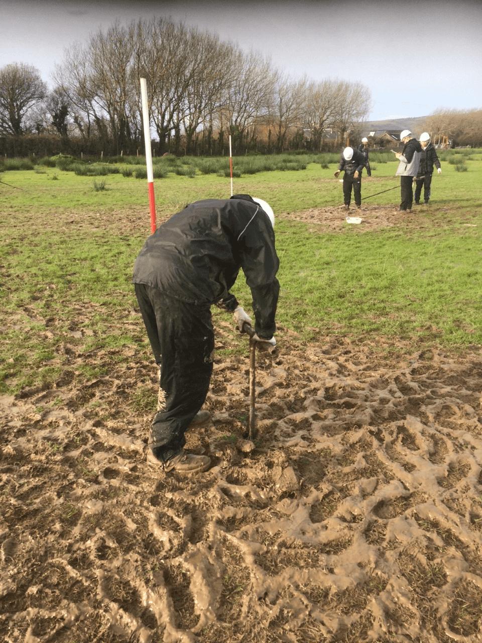 Me using a dutch auger in a very muddy field!