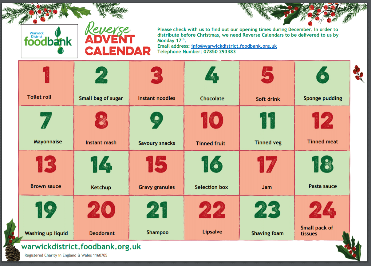 TNEVDA – Reverse Advent Calendar