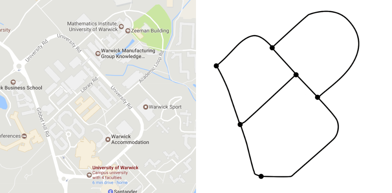 Simplifying a map to a graph