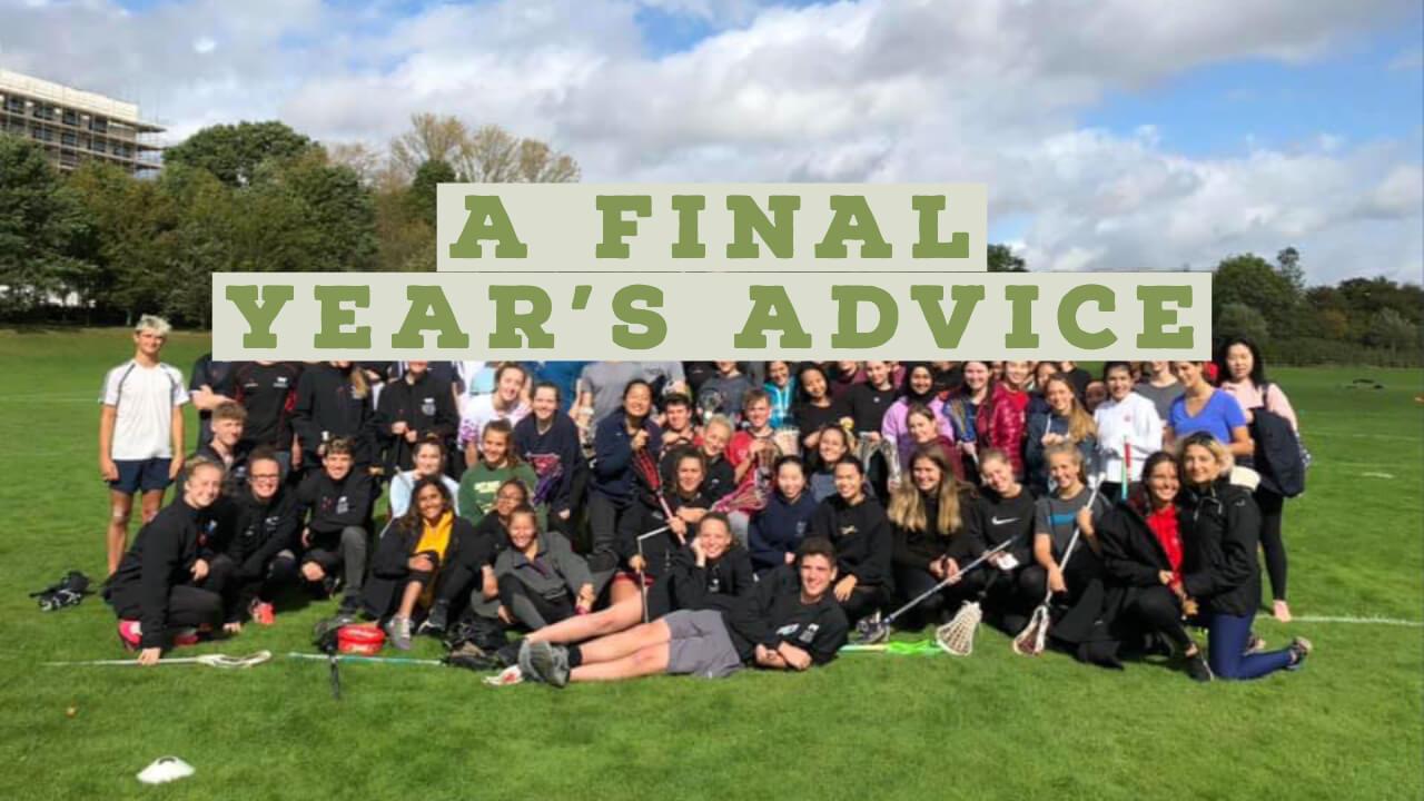 A Final Year's Advice