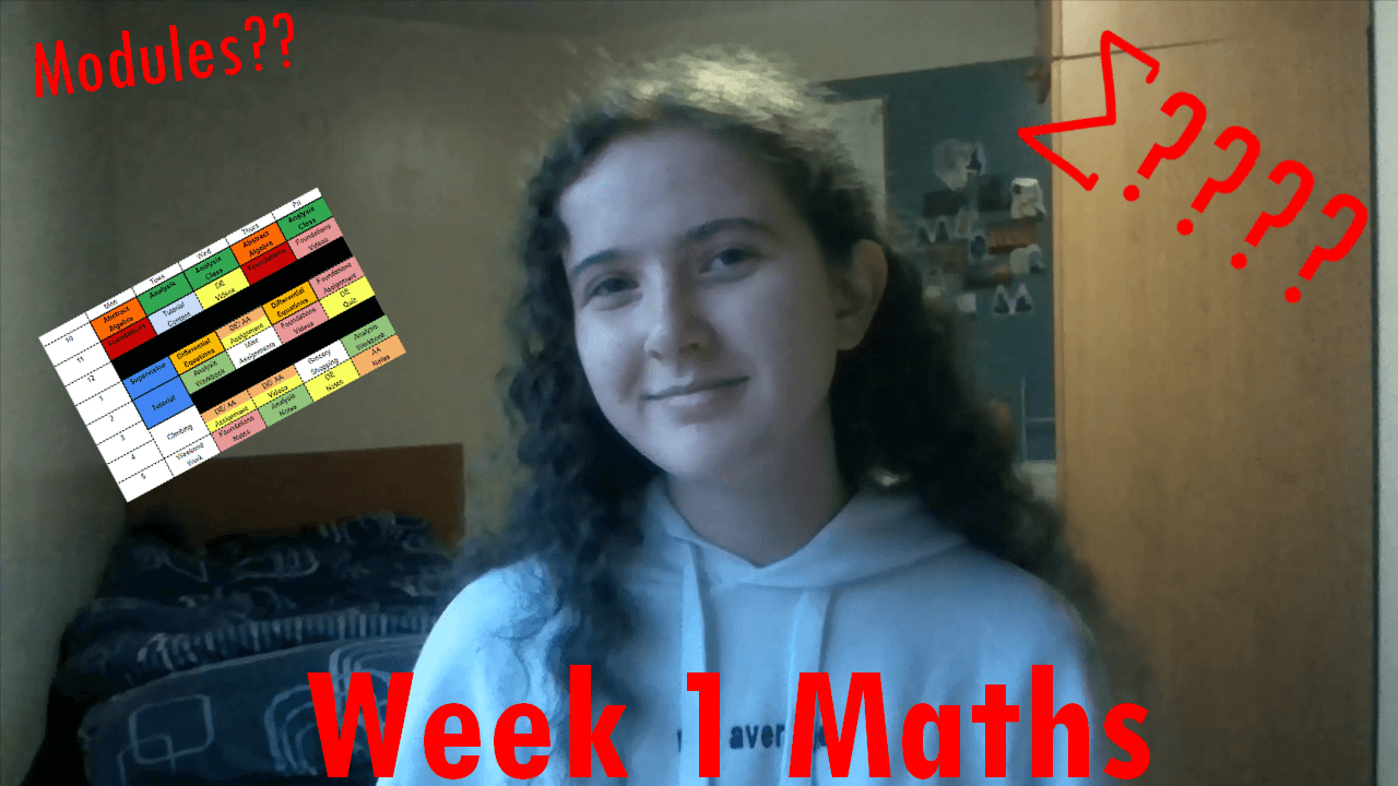 What I Wish I'd Been Told Before Week 1 of my Maths Course (vlog)