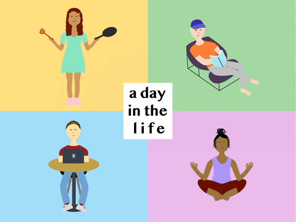A day in the life of a university student