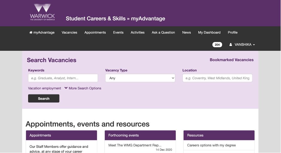 myAdvantage: Careers Guidance