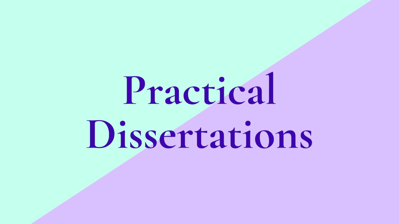 Practical Dissertations in Theatre Studies