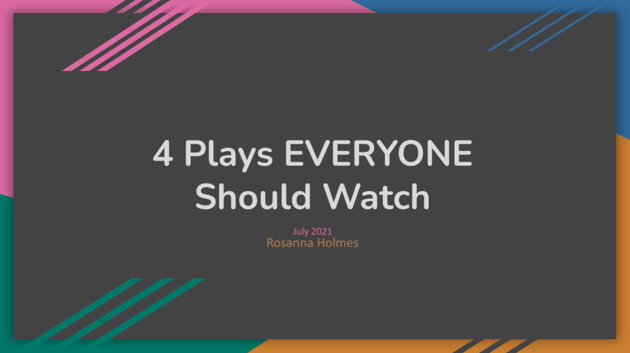 4 plays that EVERYONE should watch