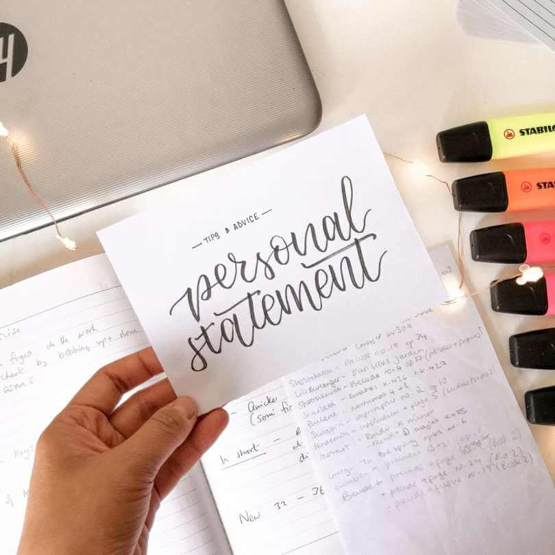 What to put in your personal statement?